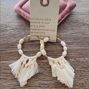 NWT Anthropologie Macrame Woven Earrings